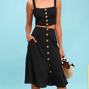 Two-Piece Midi Dress